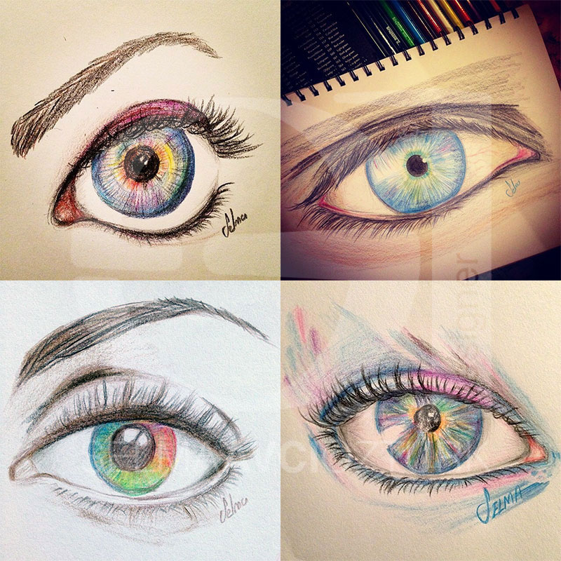 Colour Pencils Drawing